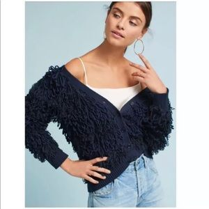 NEW Anthro Maeve Larissa Fringe Cardigan Sweater